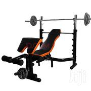 LEIKE Multifunction Bench With 100kg Olympic Barbells | Sports Equipment for sale in Greater Accra, Achimota
