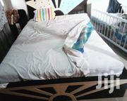 Double Bed Size Foreign Mattress and the Wood Frame. Call . | Furniture for sale in Greater Accra, Ga West Municipal