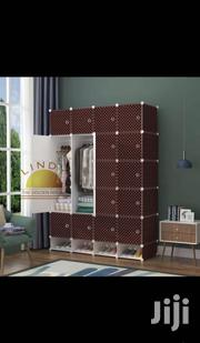 20 Cubes Plastic Wardrobe With Shoe Rack Chocolate | Furniture for sale in Greater Accra, Kotobabi