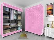 3 in 1 Fabric Wardrobe Pink | Furniture for sale in Greater Accra, Kotobabi