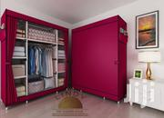 3 in 1 Fabric Wardrobe Wine | Furniture for sale in Greater Accra, Kotobabi