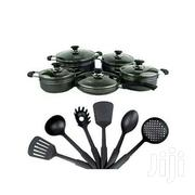 Amel Non Stick Cookware Set- 16pieces Black | Kitchen & Dining for sale in Greater Accra, Achimota