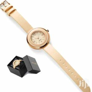 Watch Gold Pink Quartz Puritan Beige Leather