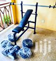 Dumbbell, Barbell and Bench Set | Sports Equipment for sale in Achimota, Greater Accra, Ghana