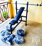 Dumbbell, Barbell and Bench Set | Sports Equipment for sale in Greater Accra, Achimota