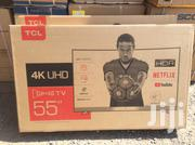 "Ultra Slim TCL 55""Curved Smart UHD 4K Satellite Led Television 