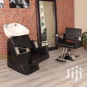 Black Hair Salon Wash Basin and Chair Set | Salon Equipment for sale in Greater Accra, Adenta Municipal