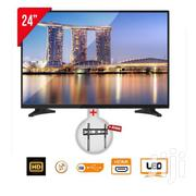 "E-life Digital Satellite LED TV - 24"" -black + Free Wall Bracket 