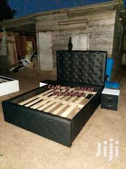 Massive Black Leather Bed | Furniture for sale in Greater Accra, Tema Metropolitan