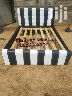 Black and White Leather Bed for Sell