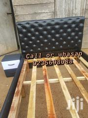 Black Leather Bed   Furniture for sale in Greater Accra, Roman Ridge