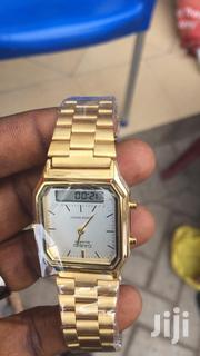 Original Casio Analog Digital Wrist Gold Watch | Watches for sale in Greater Accra, Accra new Town