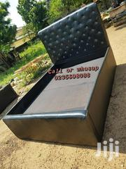 Classic Double Black Leather Bed | Furniture for sale in Greater Accra, Adenta Municipal
