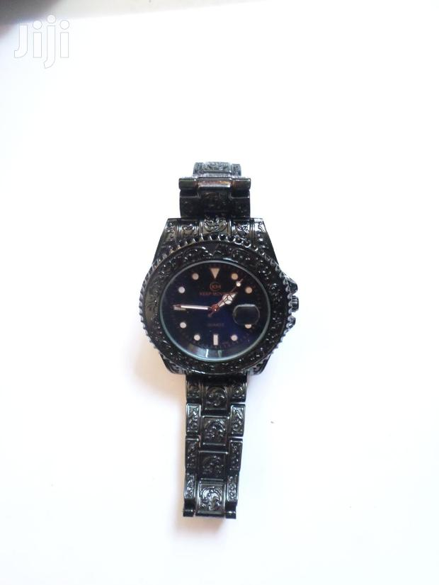 Archive: Keep Moving Day Date Men Black Vintage Watch