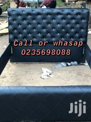 Moderate Black Leather Bed | Furniture for sale in Greater Accra, East Legon