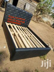 Fantastic Double Black Leather Bed | Furniture for sale in Greater Accra, Avenor Area