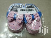 Very Cute!! Pink & Blue Polka Dot Bow Booties. 3-6M | Children's Shoes for sale in Greater Accra, Kotobabi