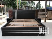 Black Quality Queen Beds With Side Drawer | Furniture for sale in Greater Accra, Abelemkpe