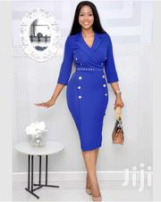 Midi Knee-Length Double Fitted Dress | Clothing for sale in Greater Accra, East Legon