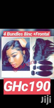 Indian Hair 4 Bundles +Frontal 8inc | Hair Beauty for sale in Greater Accra, Accra Metropolitan