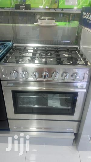Silver and Stainless Nasco 80x60cm 5 Gas Burner