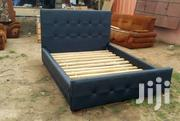 Modern Black Leather Stuffing Bed | Furniture for sale in Greater Accra, Nima