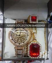 Jewelry Box With Watch, Necklace Ring, and Bracelet Designed for Xmas | Watches for sale in Greater Accra, Dansoman
