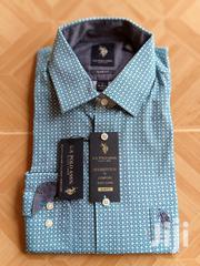 US Polo ASSN Slim Fit Long Sleeves Shirt | Clothing for sale in Greater Accra, Ga East Municipal