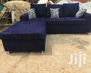 Brand New Blue Black Quality Italian L Shape Sofa | Furniture for sale in Greater Accra, Kwashieman