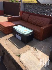 Quality Leathered L Shape Sofa With Center Table for Sell. | Furniture for sale in Greater Accra, Airport Residential Area