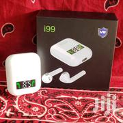 I99 Tws Exbass Wireless Bluetooh Airpods With Charging Case - White | Headphones for sale in Greater Accra, East Legon (Okponglo)