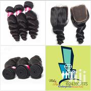 3 Bundles Virgin Human Wave Hair Plus Closure | Hair Beauty for sale in Ashanti, Kumasi Metropolitan