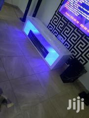 White Led Light TV Stand   Furniture for sale in Greater Accra, Kotobabi