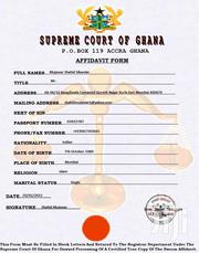 Passport, Birth Certificate And Affidavit Services | Legal Services for sale in Ashanti, Kumasi Metropolitan