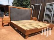 Gentle Stylish Queen Size Bed Leather Head | Furniture for sale in Ashanti, Kumasi Metropolitan