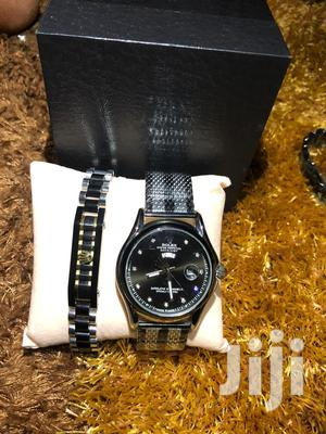 Fresh in Box Black Rolex Watch With Bracelet