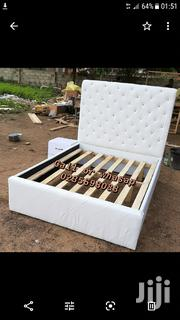 Turkish White Leather Bed With Side Drow 🛏💖💖👍 | Furniture for sale in Greater Accra, Kotobabi