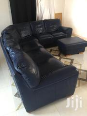 Leather Sofa And A Centre Piece   Furniture for sale in Greater Accra, East Legon