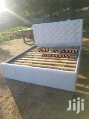 White Queen Size Leather Bed 💖💖🛏🏡🤶 | Furniture for sale in Greater Accra, Kotobabi