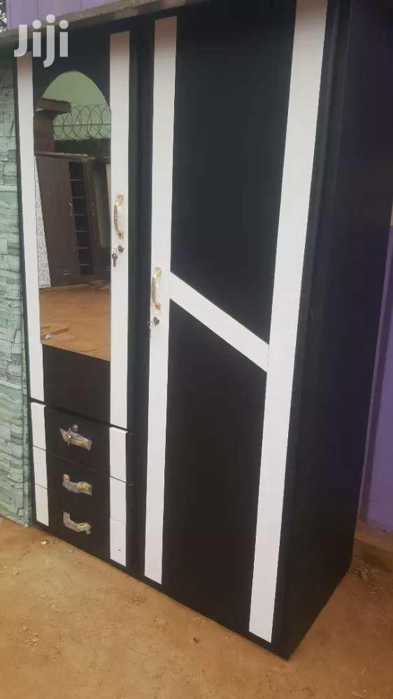 Archive: Promo On Black Double Door Wardrobe With A White Design. Free Delivery