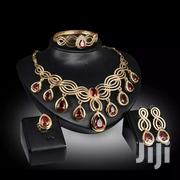 Gold Red Crystal Jewelry Set | Watches for sale in Greater Accra, Ga South Municipal