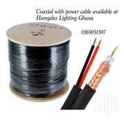 Coaxial Cable With Power Cable 100meters   Cameras, Video Cameras & Accessories for sale in Greater Accra, Airport Residential Area