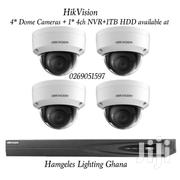 Hikvision 4* Dome Cameras + 1* 4ch NVR + 1TB HDD | Cameras, Video Cameras & Accessories for sale in Greater Accra, Airport Residential Area