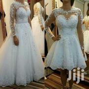 2 in 1 Wedding Gown- Long Detachable Skirt | Wedding Wear for sale in Greater Accra, Korle Gonno