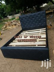 BLACK LEATHER Bed 🛏 🛏 💖💖🖤🏡🏡 | Furniture for sale in Greater Accra, Kotobabi