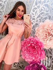 Ladies Knee-length Laced Dress | Clothing for sale in Greater Accra, Odorkor