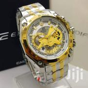 Stainless Gold Silver Casio Ediffice Mens Chain Watch | Jewelry for sale in Greater Accra, Achimota