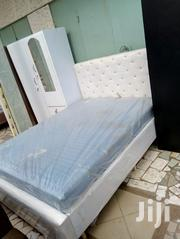 White Bed With Mattress | Furniture for sale in Greater Accra, Abelemkpe