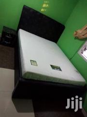 Quality Double Bed With Matress Plus Sidelock | Furniture for sale in Greater Accra, Alajo