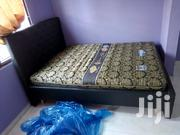 Quality Double Bed With Matress. Black On Promo | Furniture for sale in Greater Accra, Avenor Area